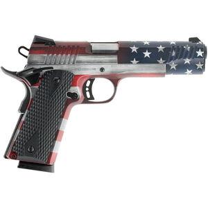 """Citadel 1911-A1 Full Size .45 ACP Semi Auto Pistol 5"""" Barrel 8 Rounds Government Profile Black G10 Grips American Flag Cerakote Finish"""