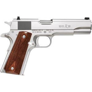 "Remington Model 1911 R1S Semi-Auto Pistol, .45 ACP, 5"" Barrel, 7 Rounds, Stainless Steel Frame, Walnut Grips"