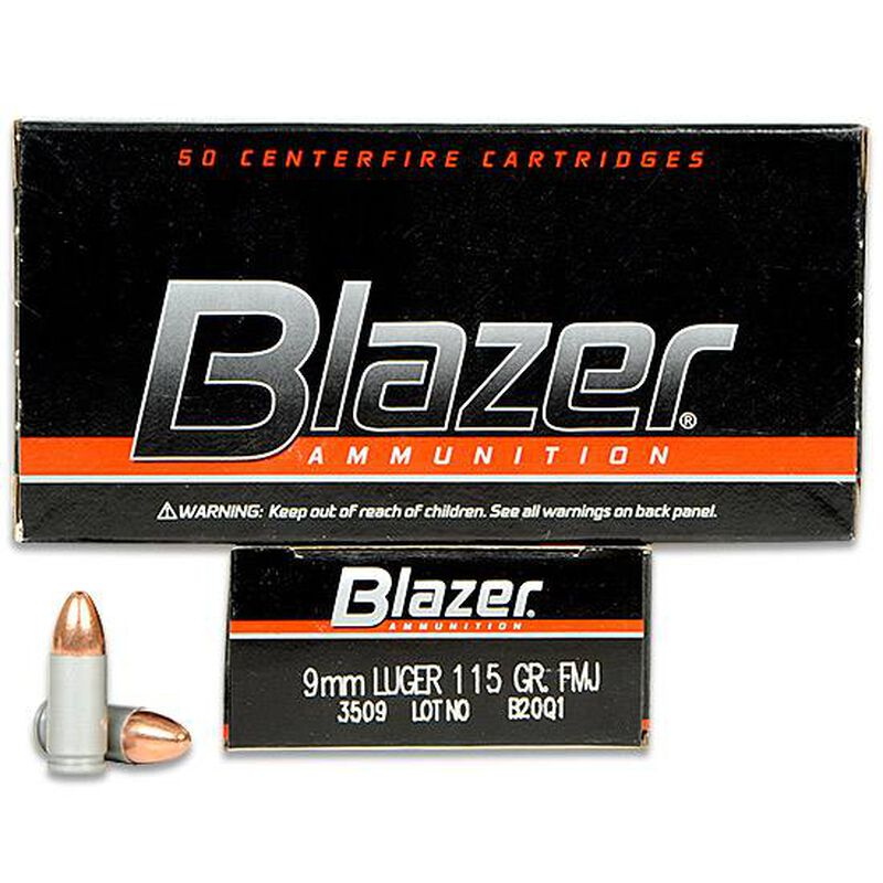 Cci Blazer 9mm Luger Ammunition 50 Rounds Fmj 115 Grains 3509 Cheaper Than Dirt