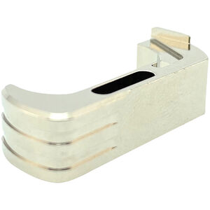 Cross Armory Extended Magazine Catch For Glock 17/19/22 Gen 4 And 5 Aluminum Silver
