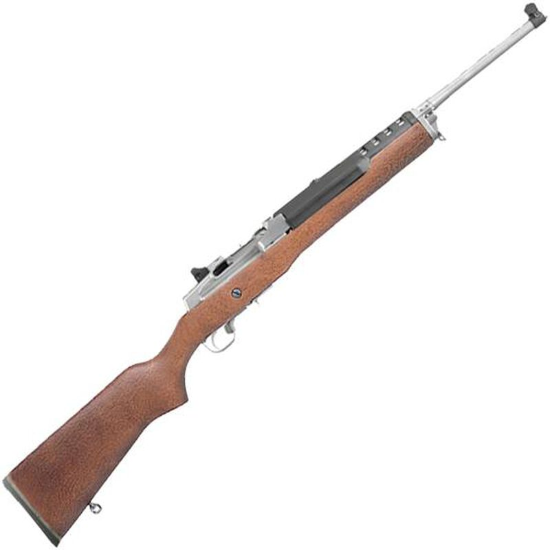 "Ruger Mini-30 Ranch 7.62x39mm Semi Auto Rifle 5 Rounds 18.5"" Barrel Hardwood Stock Stainless Steel"