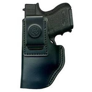 DeSantis The Insider Inside the Pant Holster For GLOCK 19/23/36, Taurus 24/7, Springfield XD/XDM, SIG Sauer 229/239 Left Hand Leather Black