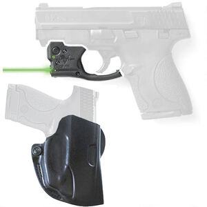 Viridian R5 Reactor Green Laser Sight with DeSantis Mini Scabbard Belt Holster for S&W Shield Right Hand Draw Black
