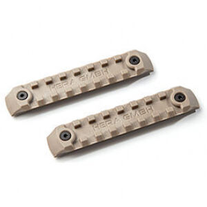HERA Arms USA P-KMRS Polymer KeyMod Rail System 2 Rail Pieces Per Package Polymer Tan