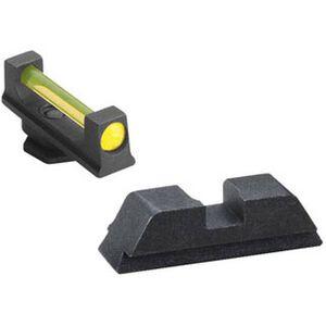 Ameriglo  GLOCK 17, 19, 22, 23, 24, 26, 27, 33, 34, 35, 37, 38, 39 Combo Fiber Optic Sight Set Amber Front Black Rear GFB-115