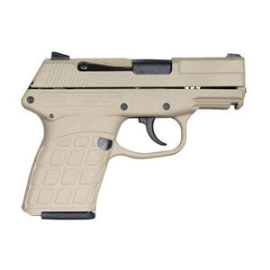 "Kel-Tec PF-9 Semi Auto Handgun 9mm Luger 3.1"" Barrel 7 Rounds Tan Polymer Grips Tan Slide"