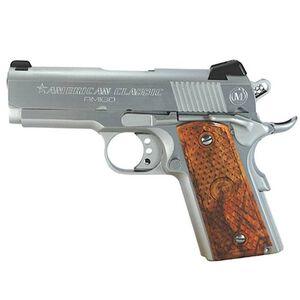 "American Classic Amigo Compact 1911 Semi Automatic Pistol .45 ACP 3.5"" Barrel 7 Round Capacity Wood Grips Hard Chrome Finish ACA45C"