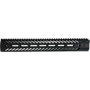 """Seekins Precision MCSR V2 M-LOC Rail 15"""" AR-15 Forend Free Float Handguard Suppressor Compatible Picatinny Top Rail QD Mounts Aluminum Black 10530035"""
