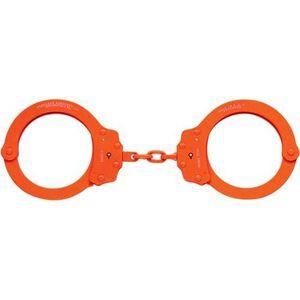 Peerless Handcuff Company Oversize Chain Handcuffs Carbon Steel EPP Extra Large Orange
