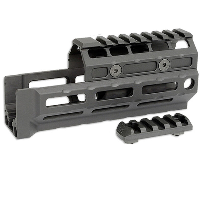 Midwest Industries Gen 2 AK-47/AK-74 Universal Hand Guard M-LOK Compatible T1 Top Cover 6061 Aluminum Matte Black