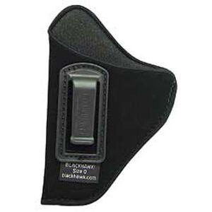 BLACKHAWK! Inside the Pants Holster for 3 3/4 to 4 1/2 Barrel Large Frame Frame Autos, Left Hand, Belt Clip, Black