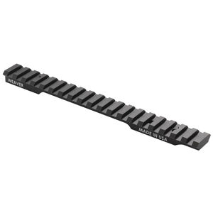 Weaver Extended Multi-Slot One Piece Base Picatinny/Weaver Compatible Mossberg Patriot Long Action Platforms 6061-T6 Aluminum Hard Coat Anodized Finish Matte Black
