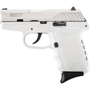 """SCCY Industries CPX-2 Semi Auto Handgun 9mm Luger 3.1"""" Barrel 10 Rounds White Polymer Frame with Satin Stainless Finish CPX-2 TTWT"""