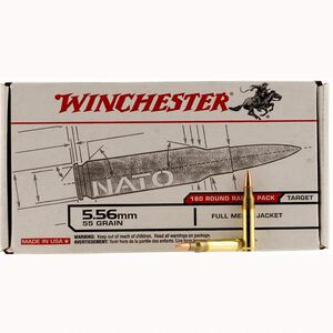 Winchester USA 5.56mm Ammunition 900 Rounds, FMJ, 55 Grains
