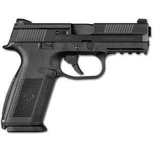 "FN-USA FNS-9 9mm Luger Semi Auto Pistol 4"" Barrel 17 Rounds Night Sights Polymer Frame Black Finish"