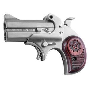 "Bond Arms Cowboy Defender Derringer Handgun .410 Bore or .45 LC 3"" Barrels 2 Rounds Rosewood Grip Satin Polish Stainless Steel Finish"