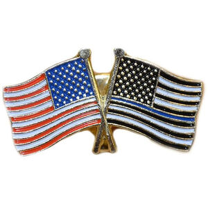 Thin Blue Line Thin Blue Line American Flag and American Flag Pin