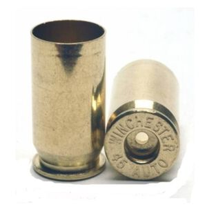 Winchester .45 Automatic Unprimed Handgun Brass Shell Cases 100 Count WSC45AU