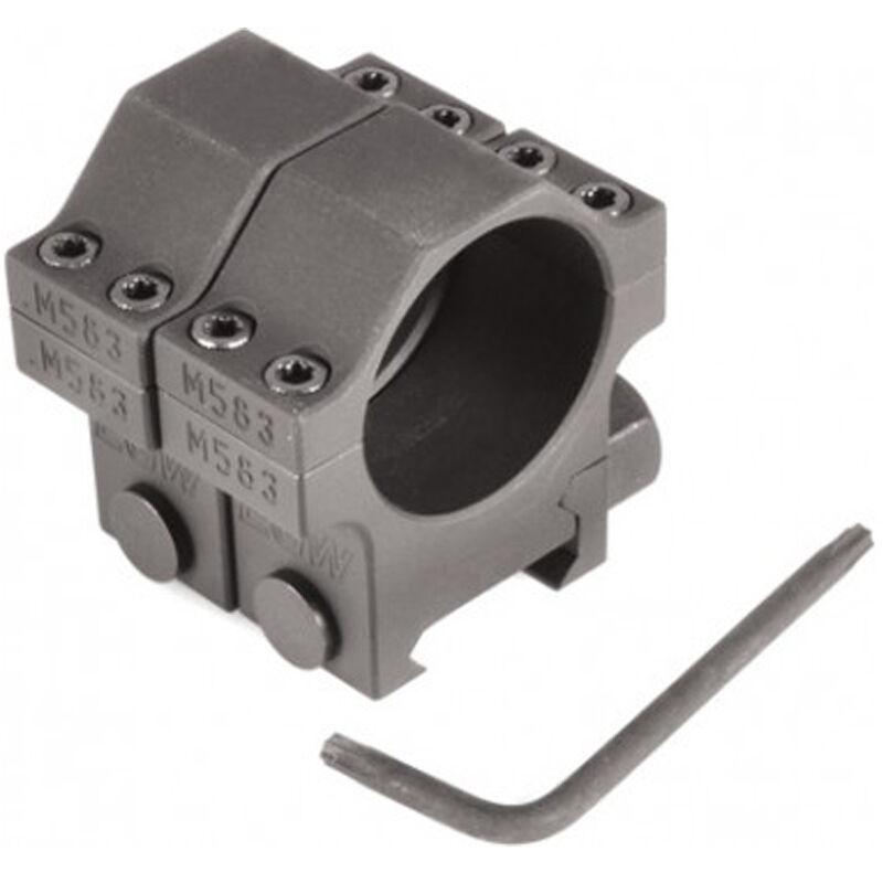 "EGW Heavy Duty 30mm Tactical Scope Rings Medium Height .990"" Billet Aluminum Anodized Finish Matte Black Finish"