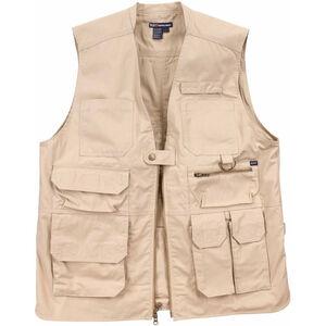 5.11 Tactical Taclite Pro Vest 3X-Large Poly/Cotton Ripstop Back-Up Belt System Compatible Khaki 800081623X