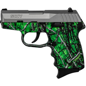 """SCCY CPX-2 9mm Luger Subcompact Semi Auto Pistol 3.1"""" Barrel 10 Rounds No Safety Moon Shine Toxic Polymer Frame with Stainless Slide Finish"""