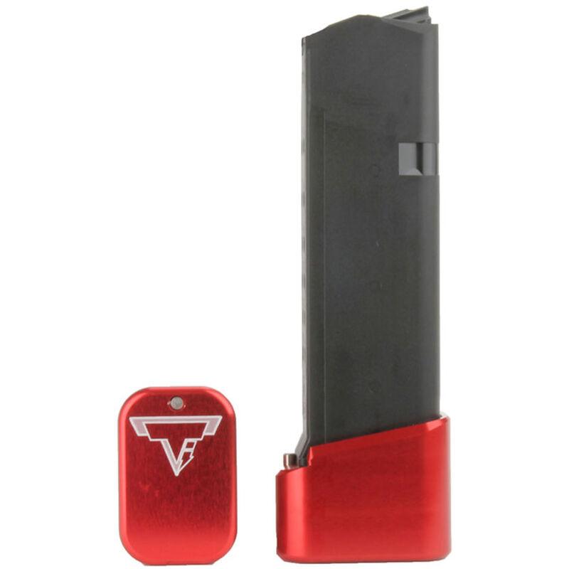 Taran Tactical Innovations +4/+5 GLOCK 19/23 Firepower Base Pad Kit Red