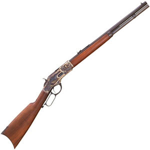 """Cimarron Firearms 1873 Short Lever Action Rifle .44-40 Win 20"""" Barrel 10 Rounds Walnut Stock Case Colored/Blued Finish"""