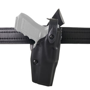Safariland 6360 GLOCK 17 and 22 ALS SLS Mid Ride Level III Retention Duty Holster Left Hand STX Plain Black 6360-83-412