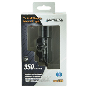 NightStick TWM-350 Tactical Weapon Mounted Light 350 Lumens CREE LED White Light CR123 Batteries Matte Black