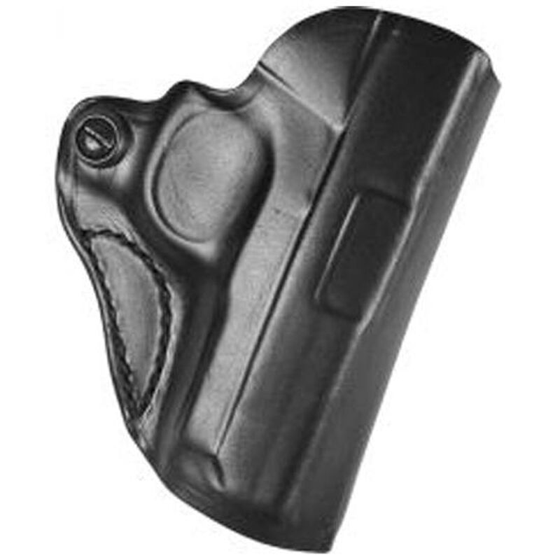 """DeSantis Gunhide Mini Scabbard 1911 with Barrels 3"""" to 3.5"""" Without Rail Belt Holster Right Hand Leather Black"""