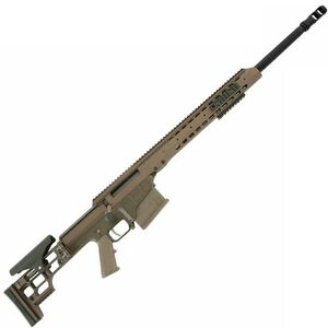 "Barrett Firearms Manufacturing MRAD Bolt Action Rifle .300 Win Mag 24"" Fluted Barrel 10 Rounds Folding Stock Tan CeraKote Finish 14390"