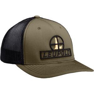 Leupold Reticle Logo Trucker Hat OSFA Snap Back Adjustment Green Loden/Black