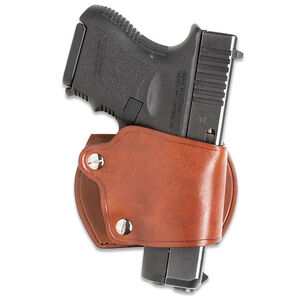 JBP Tension Holster Large Brown Wear On Belt Fits Most Glock 9mm and .45 Autos Also Sig and Berett
