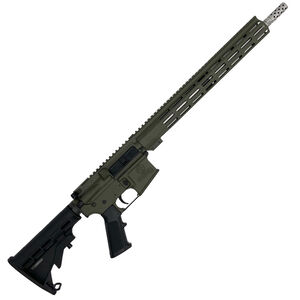 """GLFA .223 Wylde Rifle .223 Wylde Semi-Auto Rifle 16"""" Stainless Steel Barrel 30 Rounds Flat Top Optics Ready Synthetic Black Stock Olive Drab Green Finish"""