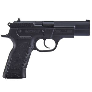 "Sarsilmaz B6 Semi Auto Pistol 9mm Luger 4.5"" Barrel 17 Rounds Fixed Sights Manual Thumb Safety External Hammer Polymer Frame Black Finish"