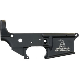 Anderson Manufacturing AR-15 Stripped Lower Receiver .223/5.56 Don't Tread On Me Mil-Spec Open Trigger Aluminum Black