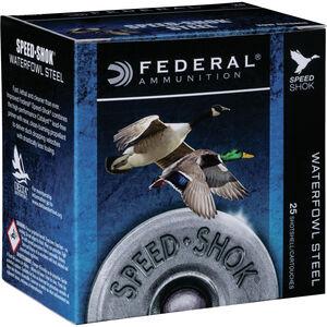 """Federal Speed-Shok 12 Gauge Ammunition 250 Rounds 3"""" Shell #6 Steel Shot 1-1/8oz 1550fps"""