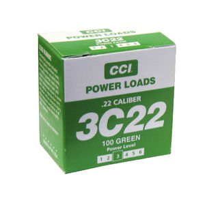 D.T. Systems CCI .22 Caliber Blank Power Loads Level 3 Green 40 to 80 Yards Box of 100