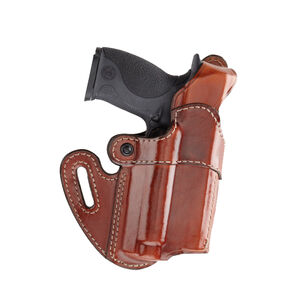 Aker Leather Model 167 Nightguard For S&W M&P40 With Light Belt Holster Left Hand Leather Tan