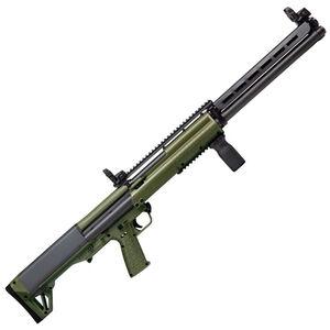 "Kel-Tec KSG-25 Pump Action Shotgun 12 Gauge 30.5"" Barrel 3"" Chamber 24 Rounds Dual Tube Magazines Downward Ejection Ambidextrous Synthetic Stock OD Green/Matte Black Finish"