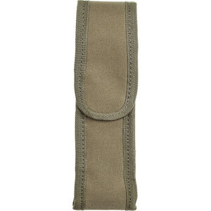 Voodoo Tactical MOLLE Flashlight Pouch with Adjustable Cover/Elastic Sides Size Medium Nylon Coyote Tan 013507000
