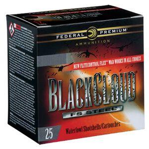 "Federal Black Cloud FS Steel 12 Gauge Ammunition 25 Rounds 3.5"" #4 FS Steel 1-1/2oz 1500fps PWBX1344"