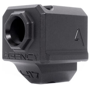 Agency Arms 417 Single Port Compensator GLOCK Gen 3 17/19/34 1/2x28 Thread Pitch Front Site Hole Black