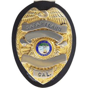"Safariland Tear Drop Badge Holder Fits Shield Badge 2.25"" x 3.25"" SafariLaminate Black"