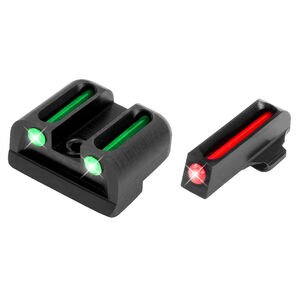 TruGlo Brite-Site Fiber Optic Sight Set for Springfield XD Series Models 3 Dot Sights CNC Machined Steel Housing Matte Black Finish