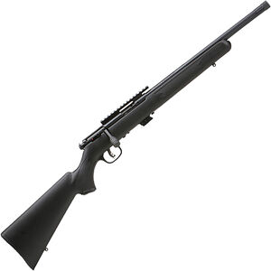 "Savage 93 FV-SR .22 WMR Bolt Action Rimfire Rifle 16.5"" Heavy Threaded Barrel 5 Rounds Black Synthetic Stock Black Finish"