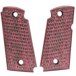 Hogue Kimber Micro 9 Ambidextrous Safety Grip Piranha G10 G-Mascus Pink Lava
