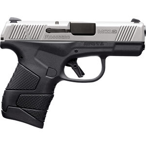 "Mossberg MC1sc 9mm Luger Subcompact Semi Auto Pistol 3.4"" Barrel 7 Rounds 3-Dot Sights Two Tone Black Polymer Frame with Matte Stainless Slide"