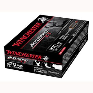 Winchester Expedition Big Game Long Range .270 Win Ammunition 200 Rounds 140 Grain Accubond 2950fps