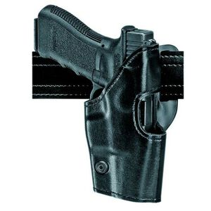 Safariland Model 295 Retention Duty Holster GLOCK 17, 19, 22, and 23, Mid-Ride, Right Hand, Old Belt Loop, Hi Gloss Black 295-83-91